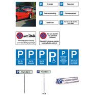 Parkplatz- und Halteverbotsschilder aus Aluminium