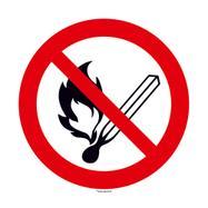 Keine offene Flamme; Feuer und Rauchen verboten