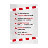"""Druck auf Papier """"Hygienevorschriften"""" DIN A3"""