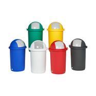 Kunststoff-Abfalleimer in verschiedenen Farben