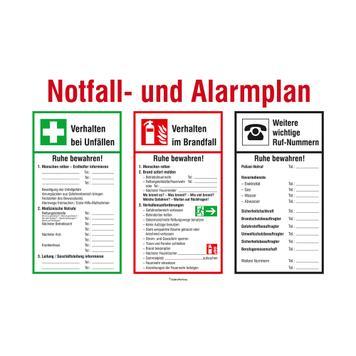 Notfall- und Alarmplan