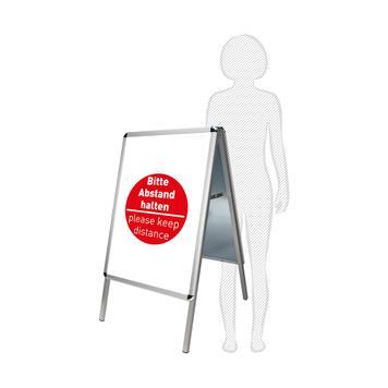 Kundenstopper mit Plakaten - Bitte Abstand halten