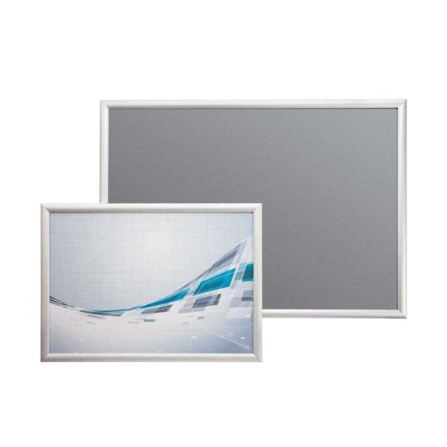 Klapprahmen, 25 mm Profil, silber eloxiert, Gehrungsecken